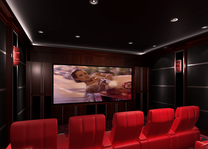 Home Cinema Lighting · Acoustic Room Treatment · Link To Designs Gallery ·  The Eccentric