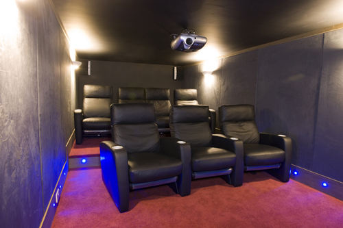 Home Cinema Installation Final Fit seats projector and speakers