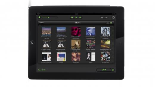 Naim n-stream App running on iPad - part of the Naim Multi-room systems