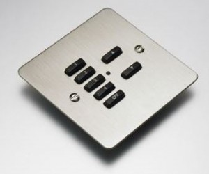Rako Controls mood lighting system 7 button stainless switch plate
