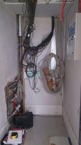 Data cupboard wiring