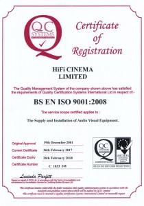 BS EN ISO9008 Certificate