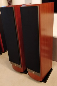 Mentor 8 Loudspeakers in Cherry with Grille