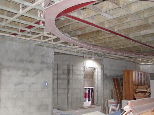 Home Cinema Installation First Fix wiring being installed