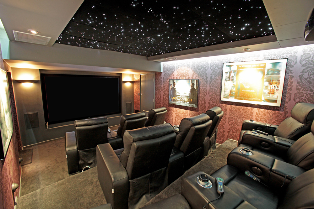 Cinema Room with Mood Lighting