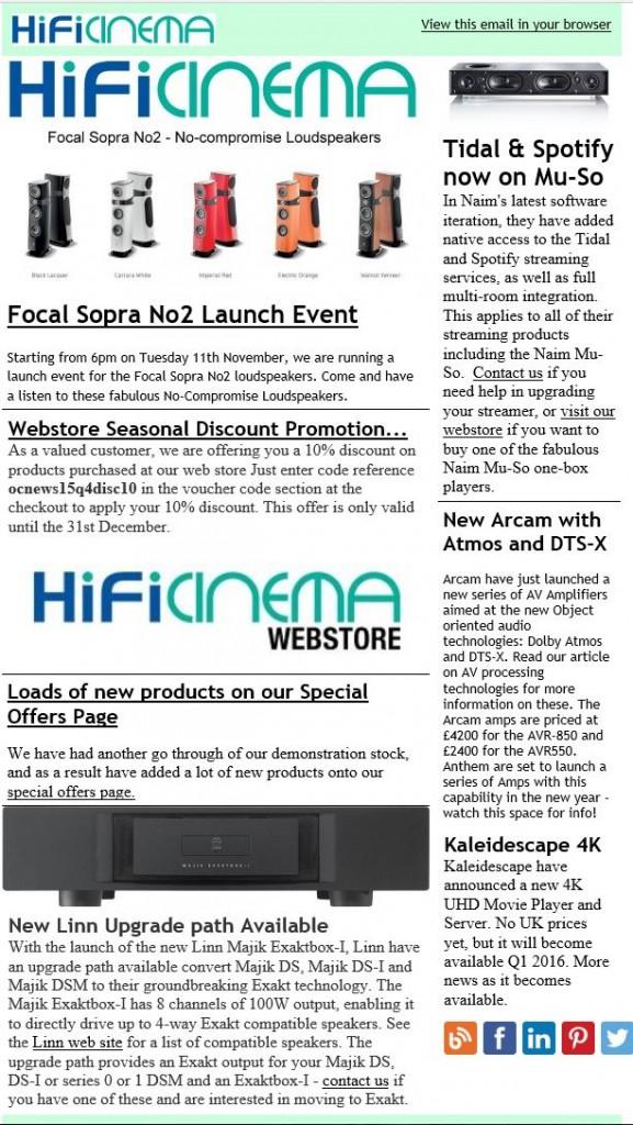 October 2015 News