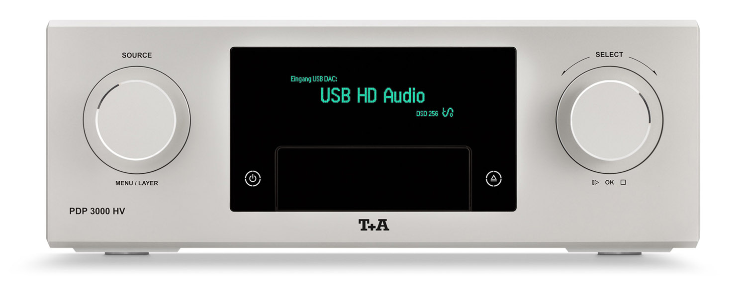 Front view of T+A PDP3000HV SACD player