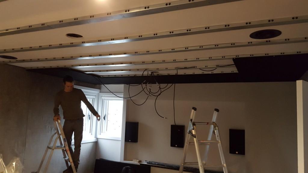 Star ceiling install 1